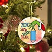 LamourLove 2020 Stink Stank Stunk Grinch Ornaments, Grinch 2020 Christmas Ornament, Grinch Christmas Decor, Christmas Grinch Hanging Ornament , 2020 Commemorative Grinch Christmas Decors