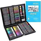 PEDY Malette Dessin 164 PCS, Crayons de Couleur, Set de Dessin Enfant,Set...