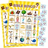 Bible Bingo Game for Vacation Bible School 24 Players for Kids Christian Sunday Church