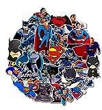 ZJJHX Autocollant de Bande Dessinée Batman Superman Autocollant Réfrigérateur Portable...