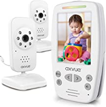 Video Baby Monitor 2 Cameras, Large Vertical Screen, Comfort-Designed Handheld, 1000ft..
