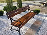 Krakwood Gartenbank aus Holz, Stahlrahmen, Metallguss