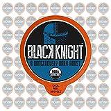 Fresh Roasted Coffee LLC, Organic Black Knight Coffee Pods, Dark Roast, Artisan Blend, Fair Trade, USDA Organic, Capsules Compatible with 1.0 & 2.0 Single-Serve Brewers, 72 Count