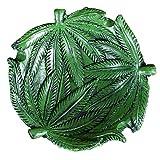 Ozzptuu Resin Hempleaf Pot Leaf Weed Cigar Cigarette Smoke Ashtrays Holder for Home Office Car