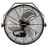 NewAir, WindPro18W, Wall Mounted 18 Inch High-Velocity Industrial Shop Fan with 3 Speed Settings, 3000 CFM