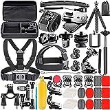 Neewer 53-en-1 Kit d'accessoires pour GoPro Hero 6 5 4 3+ 3 2 1 Hero Session 5 Noir AKASO EK7000 Apeman SJ4000 5000 6000 DBPOWER AKASO VicTsing WiMiUS Rollei QUMOX Lightdow Campark et Sony Sports DV