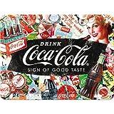 Nostalgic-Art 26227 Plaque rétro en métal Motif Coca-Cola Collage 15 x 20...