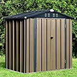 6' x 4' FT Outdoor Storage Shed, Galvanized Steel Tool Shed House for...