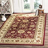 Safavieh Lyndhurst Collection LNH212F Traditional Oriental Red and Ivory Area Rug (6' x 9')