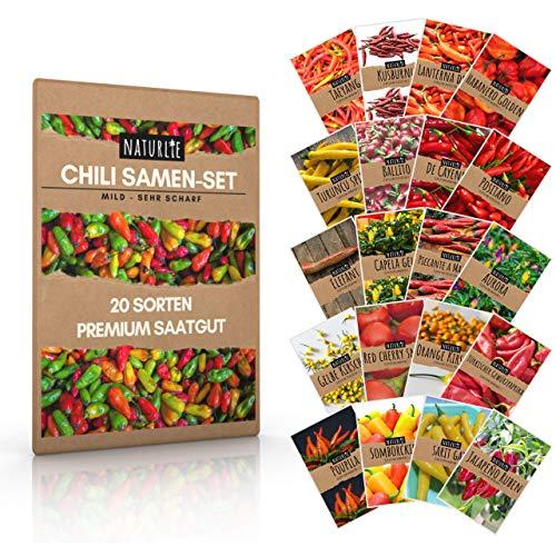 Naturlie, juego de 20 semillas de chile de Naturlie, 20 vari