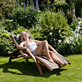 Ampel 24 Relax Liegestuhl Tropica Relaxliege mit Armlehnen Gartenmöbel aus vorbehandeltes Holz - 7