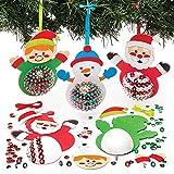 Baker Ross Kit de Décorations Personnages de Noël avec Sequins (Paquet de...