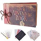 RECUTMS Album photo pour le scrapbooking « Our Adventure Book »,...