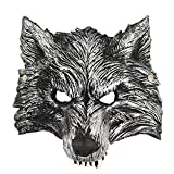 heytech Wolf Mask Scary Mask Cosplay for Festival Party for Women,Men,Kids,Boy,Girl(Wolf mask)