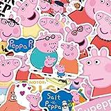 ZHXMD Lindo Animal Imagen Caricatura Maleta Trolley Caso monopatín teléfono móvil Mano Cuenta Dibujos Animados Anime Pegatinas Impermeables 50 Hojas