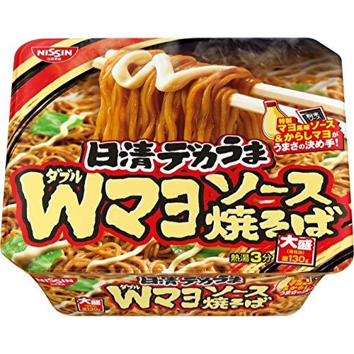 日清食品 デカうま Wマヨソース焼そば 153g ×12個