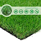 · Petgrow · Realistic Artificial Grass Turf -5FTX10FT(50 Square FT) Indoor Outdoor Garden Lawn Landscape Synthetic Grass Mat - Thick Fake Grass Rug