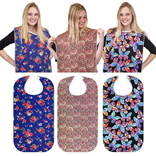 RMS 3 Pack Adult Bib Washable Reusable Waterproof Clothing...