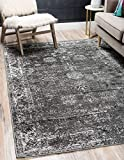 Unique Loom Sofia Traditional Area Rug, 5' 0 x 8' 0, Dark Gray