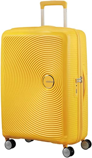 American Tourister Curio Spinner Hardside 25, Golden Yellow