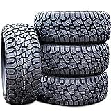 Set of 4 (FOUR) Suretrac Wide Climber RT All-Terrain Mud Off-Road Light Truck Radial Tires-35X12.50R22LT 35X12.50X22 35X12.50-22 121R Load Range F LRF 12-Ply BSW Black Side Wall