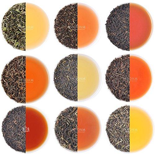 VAHDAM, Darjeeling Tè Sampler - 10 TEAS, 50 porzioni   Foglia sciolta al 100% puro non Darjeeling Unblended   Darjeeling First Flush, Second Flush, Autumn Flush - Brew Hot o Iced - Tea Variety Pack, 100g