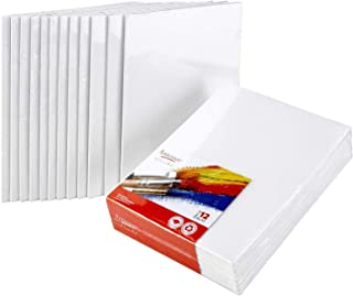 Artlicious Canvas Panels 12 Pack – 8 inch x 10 inch Super Value Pack – Artist..