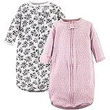 Hudson Baby Unisex Baby Cotton Long-Sleeve Wearable Sleeping Bag, Sack, Blanket, Toile, 0-3 Months