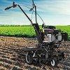 BRAST motobineuse thermique 176cc 6cv autopropulsée 6 lames ⌀ 26cm - largeur jusqu'à 60cm - profondeur 17,5-30 cm 3 600 tr/min moteur 4 temps motoculteur thermique