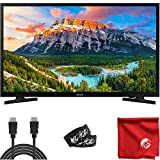 Samsung 32-Inch Class N5300 1080p Smart Full LED HD TV (UN32N5300AFXZA) Built-in USB, HDMI, Dolby Digital Plus Sound, Wi-Fi Bundle with Circuit City 6-Foot 4K HDMI Cable & Accessories (4 Items)