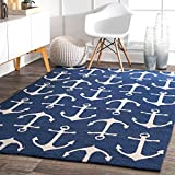 nuLOOM Despina Hand Hooked Indoor/Outdoor Rug, 2' x 3', Navy