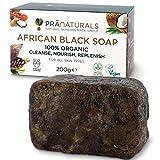 PraNaturals Jabón Negro Africano 200g, Orgánico y Vegano para Todo Tipo de Pieles, de Origen y...