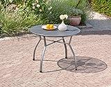 greemotion Gartentisch Toulouse rund aus kunststoffummanteltem Stahl - 7