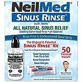 NeilMed Sinus Rinse - A Complete Sinus Nasal Rinse Kit, 50 count (Pack of 1)