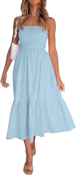 babyblue breathtaking dress, beautiful summer dresses 2021