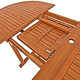 Deuba Sitzgruppe Moreno 8+1 Eukalyptusholz klappbar 9-TLG Tisch Sitzgarnitur Holz Gartenmöbel Garten Set - 2