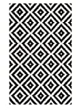 nuLOOM Kellee Contemporary Wool Area Rug, 5' x 8', Black