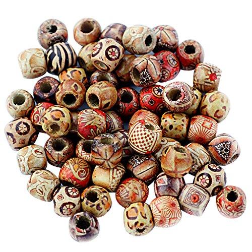 Snner #2 100 bolas de madera, cuentas espaciadoras intermedi