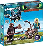 Playmobil - Harold et Astrid avec un bébé dragon - 70040