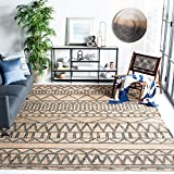 Safavieh Kilim Collection KLM752A Handmade Jute & Cotton Area Rug, 8' x 10', Natural/Charcoal