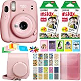 Fujifilm Instax Mini 11 Instant Camera - Blush Pink (16654774) + 2X Fujifilm Instax Mini Twin Pack...