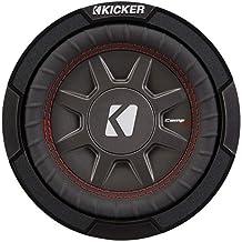 Kicker CompRT Single 6.75 Inch 300 Watt Max 2 Ohm Shallow Slim Car Subwoofer