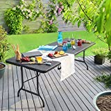 Gartentisch Klapptisch Klappbar Poly Rattan Optik Kunststoff - 4