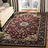 Safavieh Classic Collection CL362A Handmade Traditional Oriental Burgundy and Navy Wool Area Rug (6' x 9')