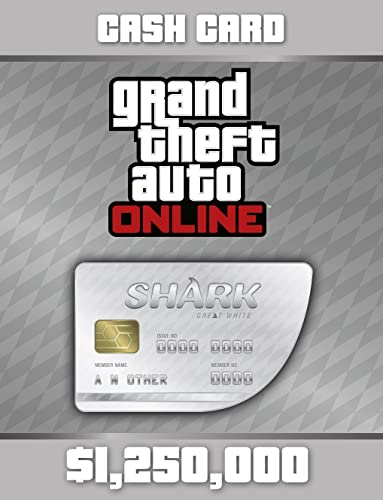 Grand Theft Auto Online | GTA V Great White Shark Cash Card | 1,250,000 GTA-Dollars