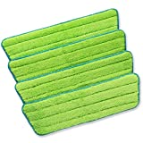 Homevative Reusable Microfiber Spray Mop Replacement Pads, 4 Pack, Washable, Velcro attaching