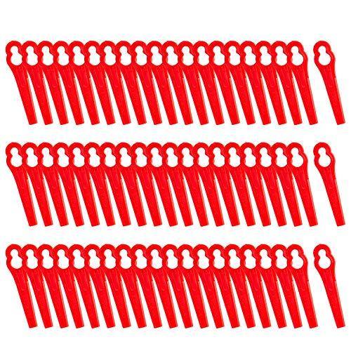 FORMIZON 60 Pezzi Lama in Plastica per Tosaerba Coltelli di Plastica per La per Decespugliatore a Batteria