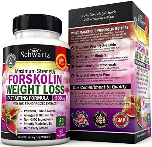 Forskolin Extract for Weight Loss. Pure Forskolin Diet Pills & Belly Buster Supplement. Premium Appetite Suppressant, Metabolism Booster, Carb Blocker & Fat Burner for Women and Men Coleus Forskohlii 2