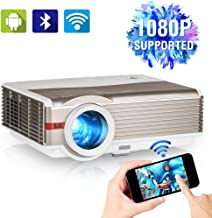 1080P Supported Video Projector with WiFi, Upgrade 5000 Lumen Home Cinema Projector with..