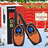 Bobela Camping and Cruise Ship Accessories, Handheld Walky Talky with Belt Clip for AdultsEasy to Use Walkie Talkies for Family Travel Trip(M880 Orange,2 Pack)